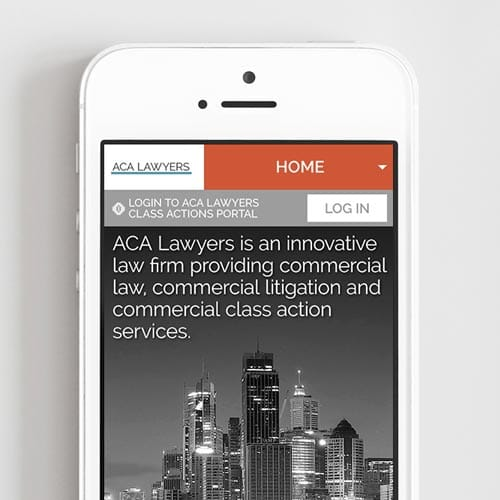 ACA lawyers: Website