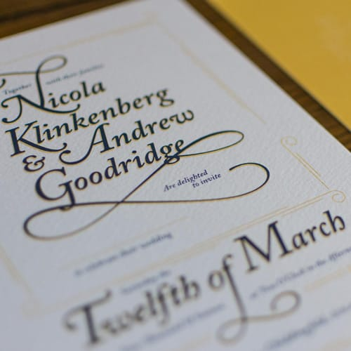 Andy & Nicola Wedding Stationery