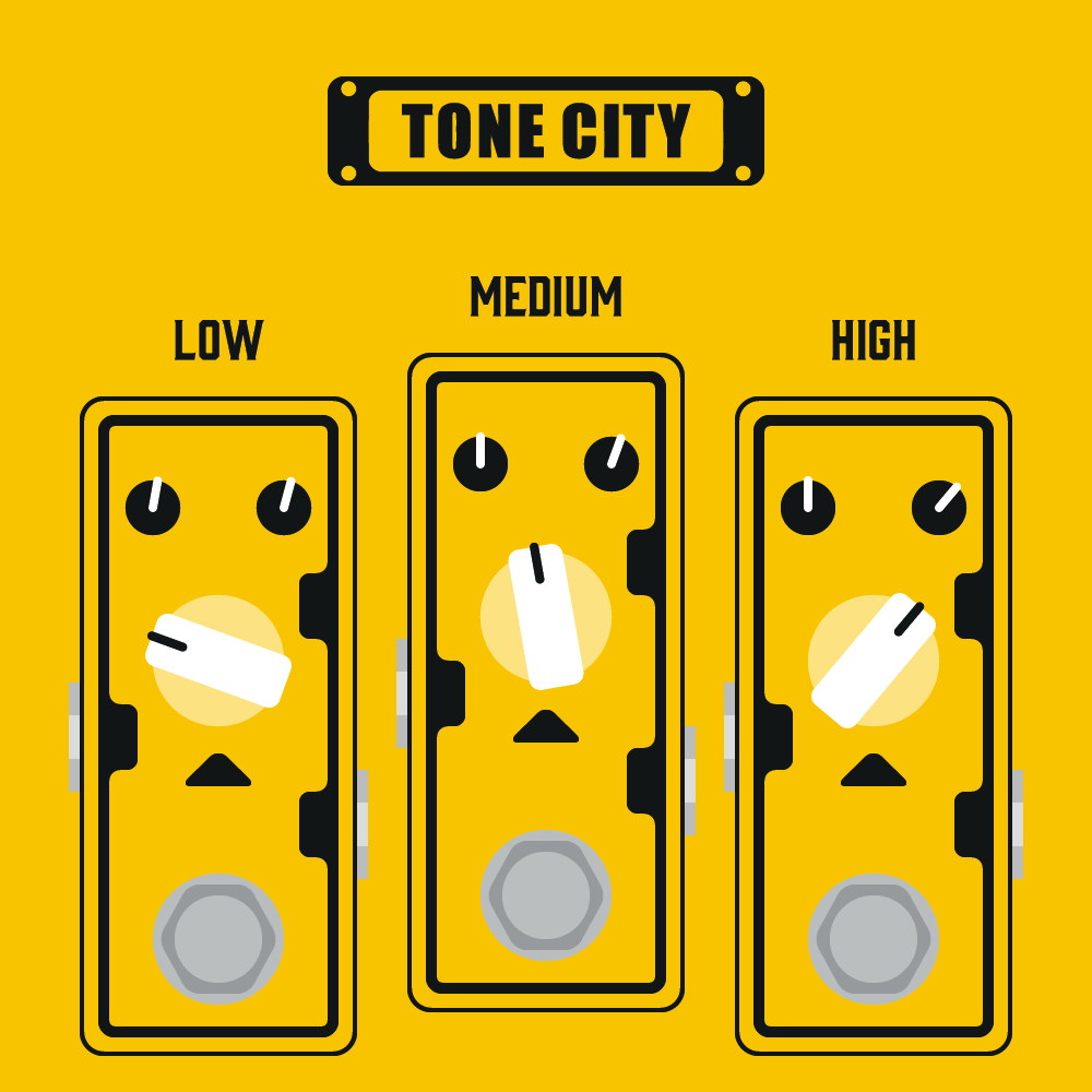 Andertons Music Co: Infographics & Illustrations - Tone City Pedal Guides