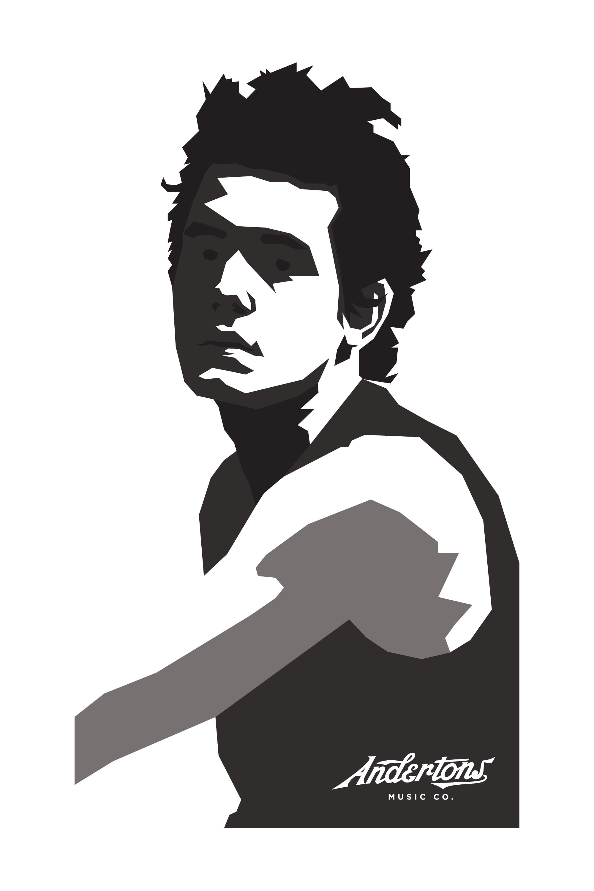 Andertons Music Co: Infographics & Illustrations - John Mayer Illustration