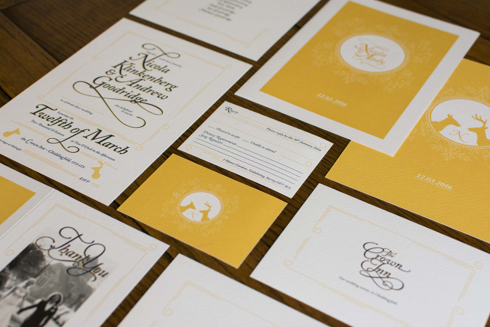 Andy & Nicola Wedding Stationery - Wedding invitations