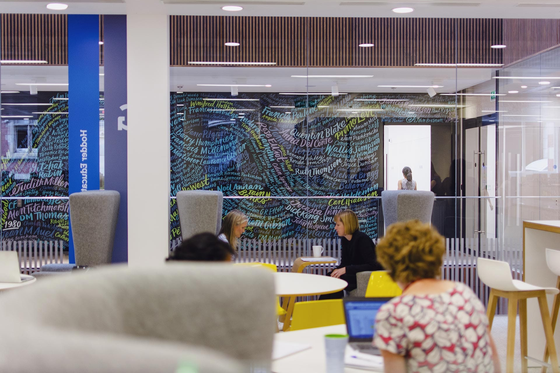 Hachette UK: The River of Authors - The Author Mural and Office Signage