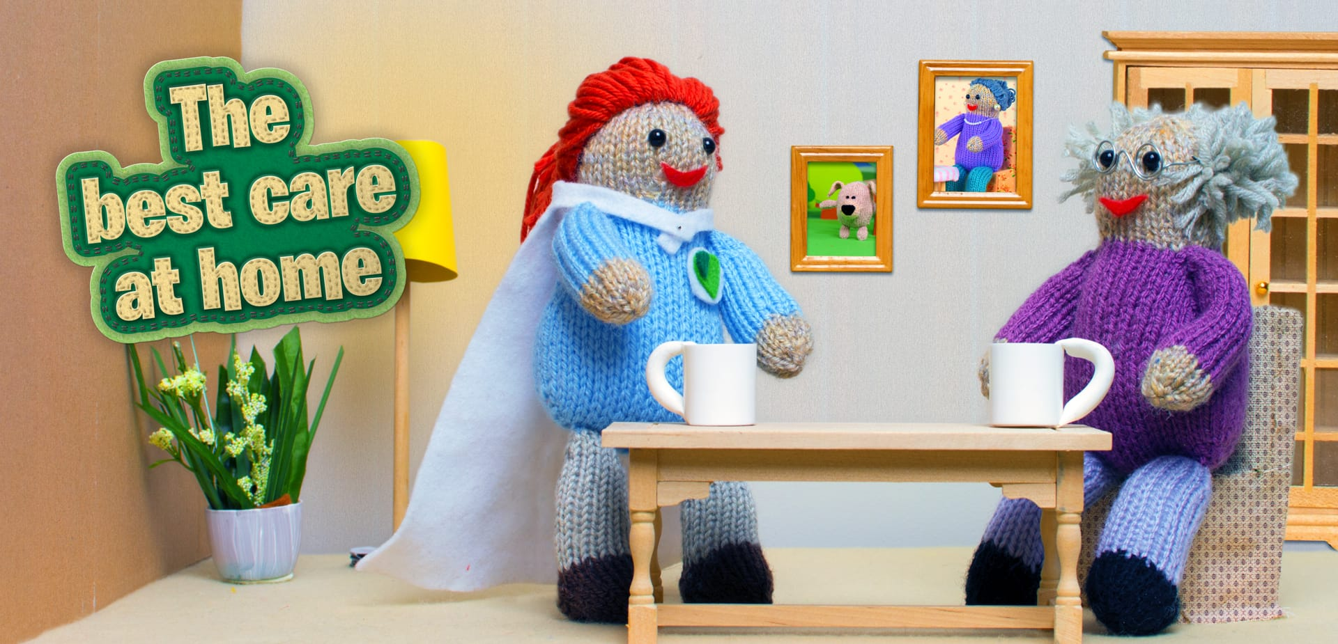 Home Counties Carers: Advertising - Knitted people!