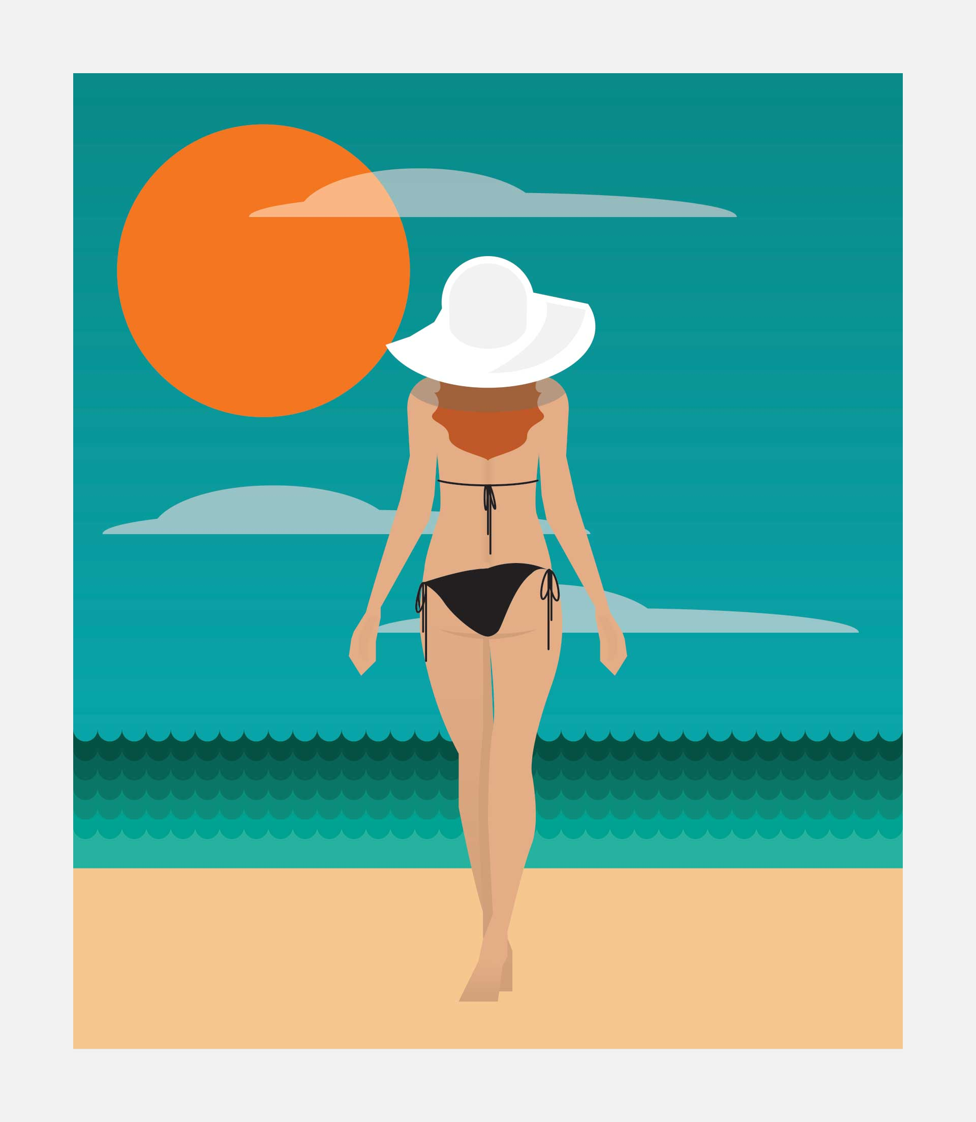Illustration: People & Places - Sun Sand & Sea