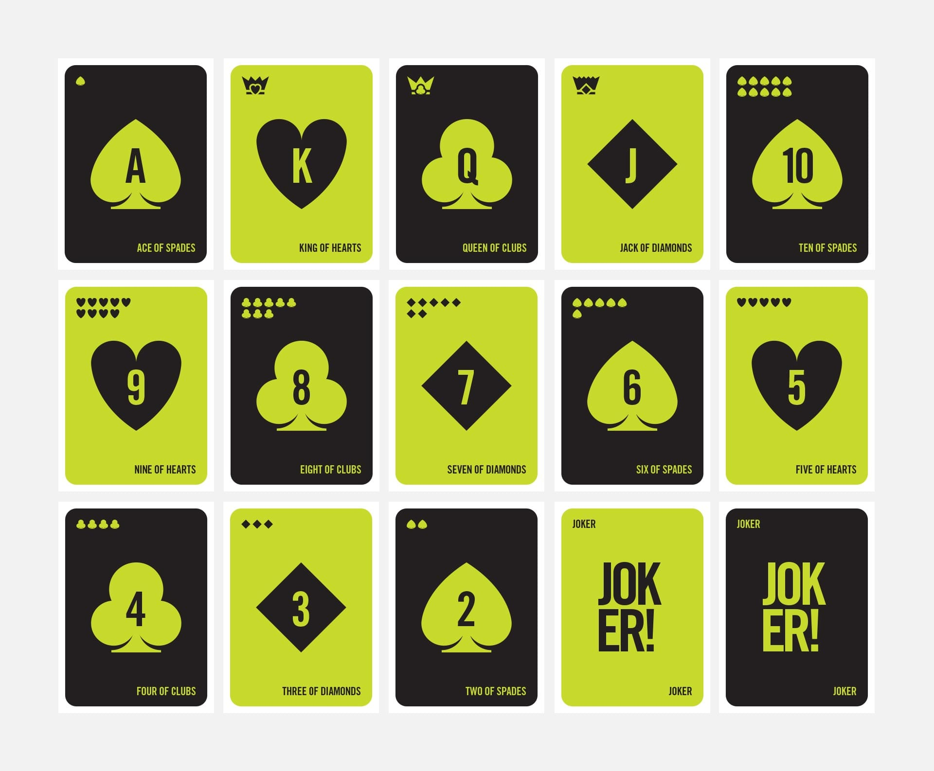 One One One: Branding & Website - Playing cards