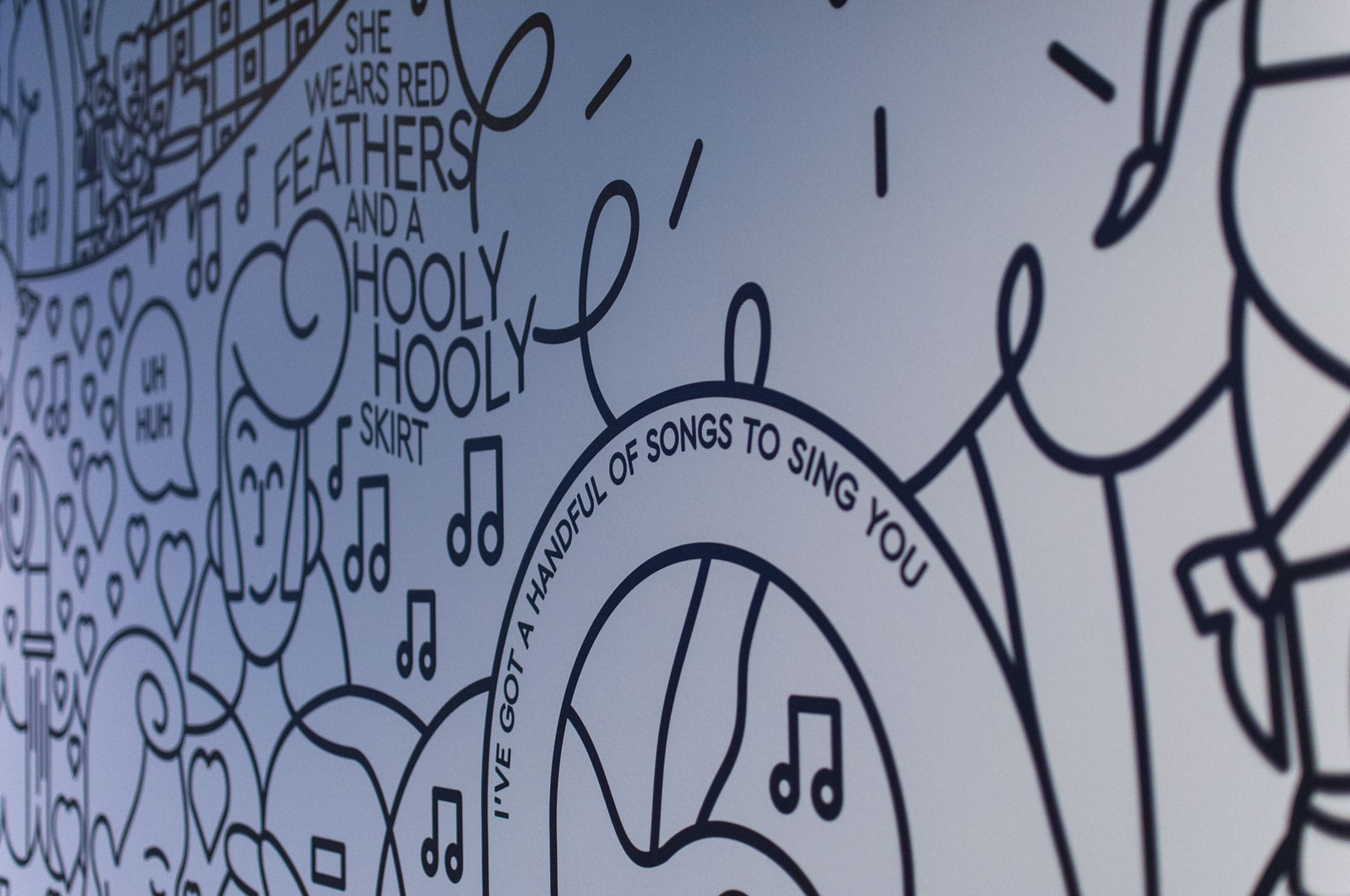 PPL PRS Ltd: United for Music (Mural) - PPLPRS Office Mural
