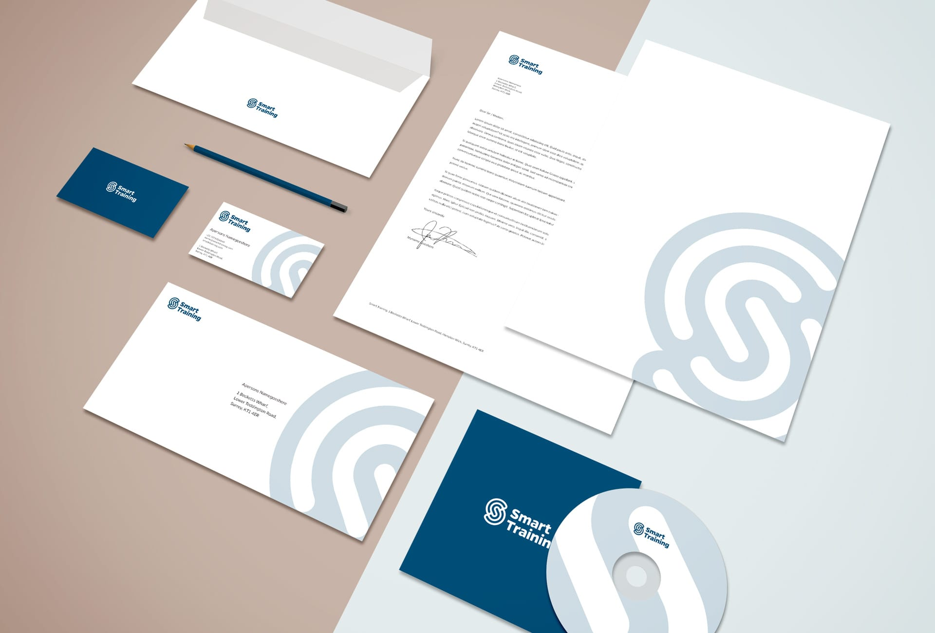 Smart Training: Branding & Website - Stationery